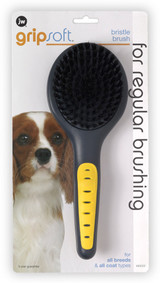 JW Pet GripSoft Bristle Brush Regular Dog Brush