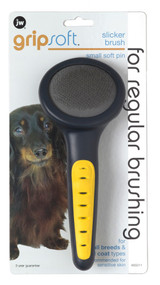 JW Pet Products Gripsoft Soft Pin Slicker Brush Small