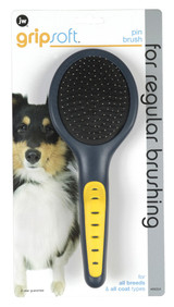 JW Pet GripSoft Pin Dog Brush Long Coated Breeds