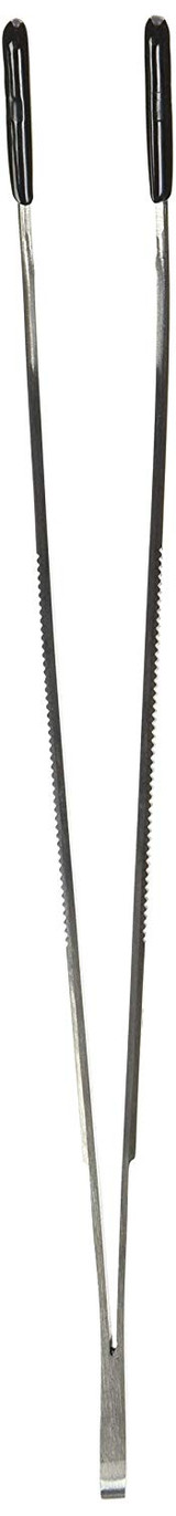 Zoo Med Angled Stainless Steel Feeding Tongs Ideal for Snakes 10 inches