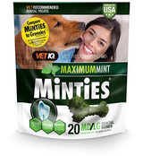 VetIQ Minties Dental Bone Treats for Dogs 40+ pounds 20 count Medium/Large 16 oz