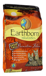 Earthborn Holistic Primitive Feline Dry Food for Cats 5 lbs