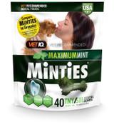 VetIQ Minties Dental Bone Treats for Dogs 5-39 pounds 40 count Tiny/Small 16 oz