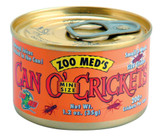 Zoo Med Can O' Crickets Mini Size Canned Food for Reptiles Fish Birds 1.2 ounces