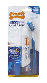 Nylabone Advanced Oral Care Complete Dental Kit for Adult Dogs