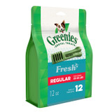 Greenies Fresh Dental Chews Regular for Dogs  25-50 Pounds 12 Count