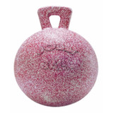Horsemen's Pride Jolly Ball With Handle Pink/White 10 inch | Peppermint Scented