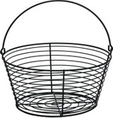 Miller Manufacturing Egg Basket Small Heavy Duty Wire Securely Welded Black