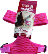 Valhoma Chicken Harness Adjustable Durable Breathable Hen Pink Small
