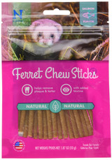 N-Bone Ferret Chew Treats Salmon Flavor Natural Long Lasting with Taurine 1.8 oz
