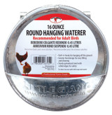 Miller Manufacturing Galvanized Steel Hanging Feeder Round Waterer Gravity-Feed