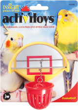 JW Pet Activitoy Birdie Basketball Mirrored Backboard Toy