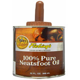 Fiebing's Pure Neatsfoot Oil 32 oz | Leather Softener | Comes with Applicator