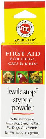 MiracleCare Kwik-Stop Stypic Powder Bleeding Minor Cuts Nail Clippings 0.5oz