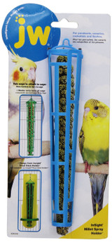 JW Pet Company Insight Miller Spray Holder Treat Stick Plastic Bird Feeders