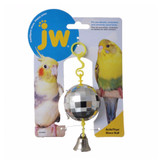 JW Pet Activitoy Disco Ball Bird Grooving the Beat Tiny Mirror Effect Square