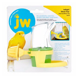 JW Pet Clean Cup Feeder and Water Bird Accessory Small with Hard Plastic Back