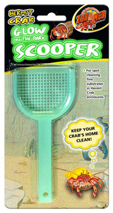 Zoo Med Hermit Crab Scooper Glow in the Dark Spot Cleaning Substrates Enclosures