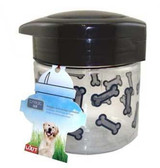 Lixit Medium Dog Treat Jar Container Locking Lid Air Tight Water Proof 64 oz