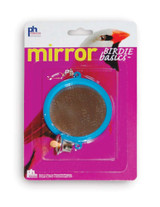 Prevue Pet Products Birdie Basics Two Sided Round Mirror with Bell Toy for Birds