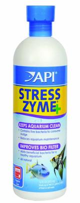 API Stress Zyme Bottle Contain Bacteria Consume Sludge Keep Aquarium Clean 16 oz