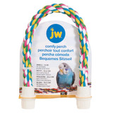 JW Pet Comfy Perch For Birds Flexible Multi-Color Rope Small 14 inch