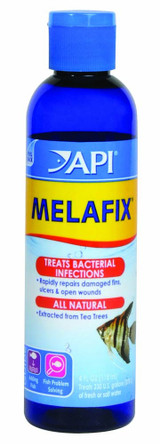 API Melafix Bottle Heals Open Wounds Promotes Regrowth Damaged Fin Rays 4 oz