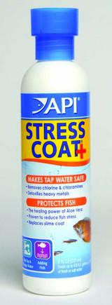 API Stress Coat Bottle Removes Chlorine Chloramines Detoxifies Heavy Metal 8 oz