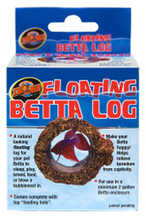 Zoo Med Labs Betta Floating Log Cover Reduce Stress Structure for Nests Log
