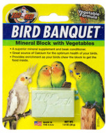Zoo Med Labs Supplement Bird Banquet Mineral Block Veggie Formula Small Calcium