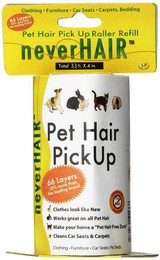 NeverHair Pet Hair Pick Up Roller Refill for Clothing Furniture Carpets Bedding