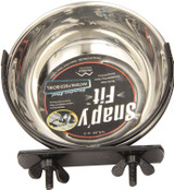 Mid-West Snap'y Fit Stainless Steel Water / Food Bowl 10 ounce for Dogs and Cats
