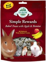 OXBOW Simple Reward Apple Banana Oven Baked Fiber Small Animal Treat 2 oz