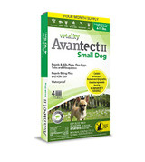 Vetality Avantect II Flea & Tick Spot-On for Small Dogs 4-10 pounds 4 doses