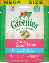 Greenies Feline Dental Treats Savory Salmon Cleans and Freshens Breath 4.6 oz