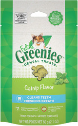 Greenies Fleline Dental Treats Catnip Flavor Cleans and Freshens Breath 2.1 oz