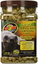 Zoo Med Natural Grassland Tortoise Food with Added Vitamins and Minerals 35 oz