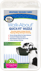 Four Paws Quick Fit Dog Muzzle Black Fits Sizes 5-XL