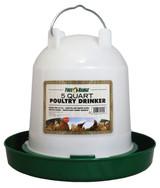 MannaPro Poultry Drinker 5 quart | Plastic Twist-Lock Chicken Waterer