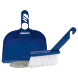 Petmate Blue Dust Pan and Sweeper for Around Cat litter Boxes