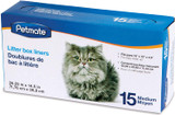 Petmate Litter Pan Liners 15 Pack for Cat Boxes Medium 28.25 in. x 14.5 in.