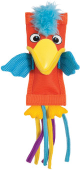 Petmate ZOOBILEE Parrot Dog Toy Durable Firehose Exterior Plush Interior