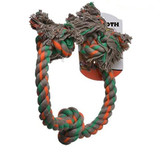 Mammoth Flossy Chews 3 Knot Rope Toy for Dogs Extra Large 36 in. Assorted Colors