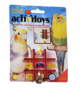 Petmate JW Activitoy Tic Tac Toe Small Bird Toy - Assorted Colors