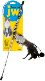 Petmate JW Cataction Wand Cat Toy With Enticing Feathered Ball