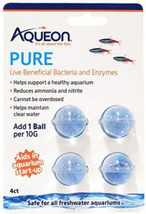 Aqueon Pure Aids in Aquarium Startup 4 Live Beneficial Bacteria and Enzyme Balls