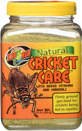 Zoo Med Natural Cricket Care +Vitamins For Crickets Being Fed To Reptiles 10-Oz.