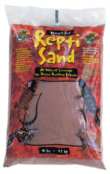 Zoo Med Repti Sand Natural Red All Natural Stimulates Digging Burrowing 10 lbs