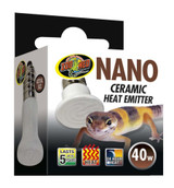 Zoo Med 40 Watt Nano Ceramic Heat Emitter For Up To 5 Years of 24 Hour Heat