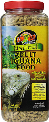 Zoo Med Natural Adult Iguana Food + Vitamins And Minerals 20-Ounce